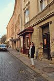 Femme dans la rue Image libre de droits