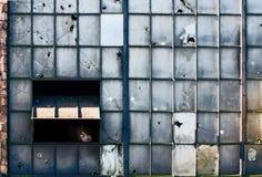 Femme dans la vieille usine Photos stock