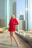 Femme dans la ville Photos stock