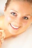 Femme dans le bain photo libre de droits