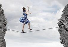 Femme dans le bandeau Photographie stock libre de droits