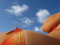 Femme dans le beachwear Image libre de droits