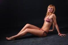 Femme dans le bikini Image libre de droits