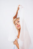 Femme dans le blanc Image libre de droits