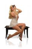 Femme dans le blanc Images stock