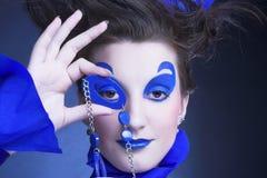 Femme dans le bleu Image stock