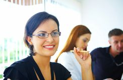 Femme dans le bureau Image stock