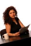 Femme dans le bureau Images libres de droits