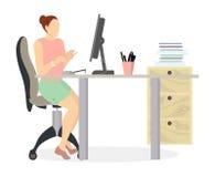 Femme dans le bureau Photo stock