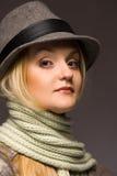 Femme dans le chapeau Images libres de droits