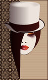 Femme dans le chapeau Photos stock