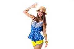 Femme dans le chapeau tenant la main  photo libre de droits