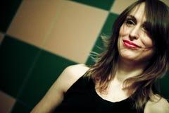 Femme dans le club Photographie stock libre de droits
