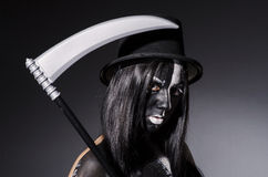 Femme dans le concept de Halloween Photo libre de droits