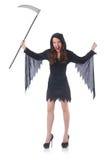 Femme dans le concept de Halloween Photo stock