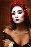 Femme dans le costume oriental traditionnel Image libre de droits