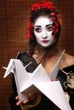 Femme dans le costume oriental traditionnel Photographie stock libre de droits