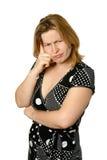 Femme dans le doute. photographie stock libre de droits