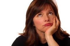 Femme dans le doute Image libre de droits