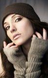 Femme dans le knit Photo libre de droits