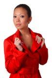 Femme dans le manteau automnal Photographie stock libre de droits