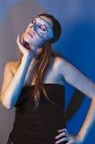 Femme dans le masque Photo libre de droits