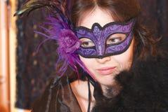 Femme dans le masque Image stock