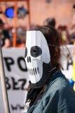 Femme dans le masque Image libre de droits