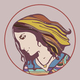 Femme dans le profil photos stock