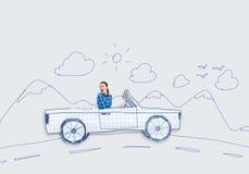 Femme dans le véhicule Photos libres de droits