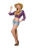 Femme dans le vêtement de mode Photo stock