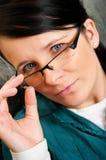 Femme dans les lunettes Photo libre de droits
