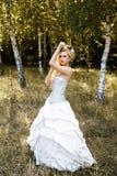 Femme dans les sous-vêtements antiques de robe Photo stock