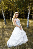 Femme dans les sous-vêtements antiques de robe image stock