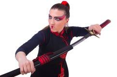 Femme dans martial japonais Photographie stock
