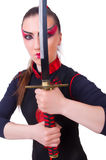 Femme dans martial japonais Photo stock