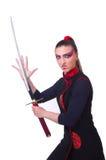 Femme dans martial japonais Images libres de droits