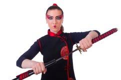 Femme dans martial japonais Photo libre de droits