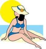 Femme dans un bikini illustration stock