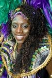 Femme dans un costume coloré au carnaval Image libre de droits