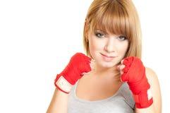 Femme dans un gant photo libre de droits