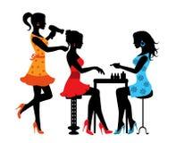 Femme dans un salon de beauté illustration libre de droits