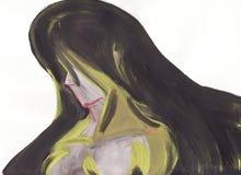 Femme dans une peinture abstraite Images libres de droits