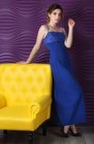 Femme dans une robe Photos stock