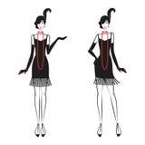 Femme dans une robe 20 du ` s illustration libre de droits