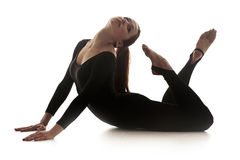 Femme dansant la danse acrobatique Photos stock