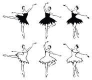 Femme-danseurs de ballet. Photographie stock