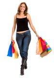 femme de achat de sacs Images stock