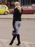 Femme de attente Photographie stock libre de droits