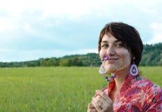 Femme de beauté à la nature Photo libre de droits